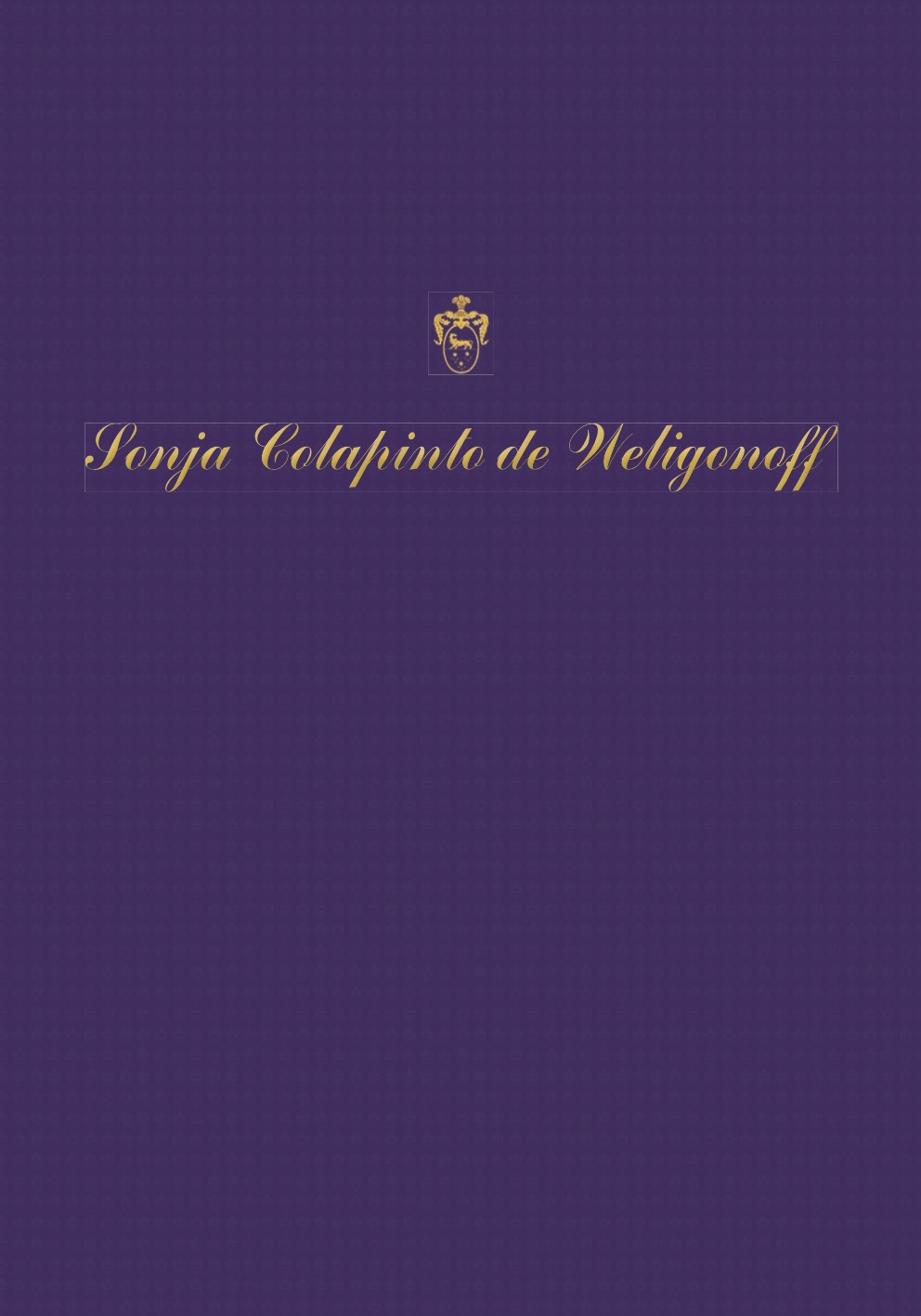 CATALOGO 2007-2013 SONJA COLAPINTO de WELIGONOFF